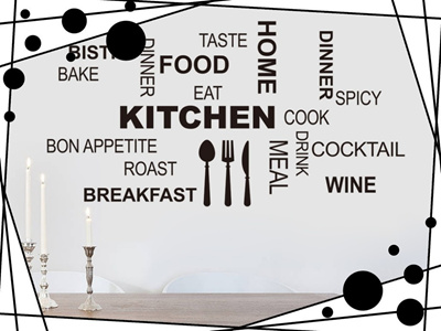 Kitchen Wall Decals Removable Art Home Wall Stickers Room Decor