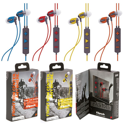 Klipsch Image S4i Rugged In Ear Headphones Ruggedized With Tough Rubber Moldings Patented