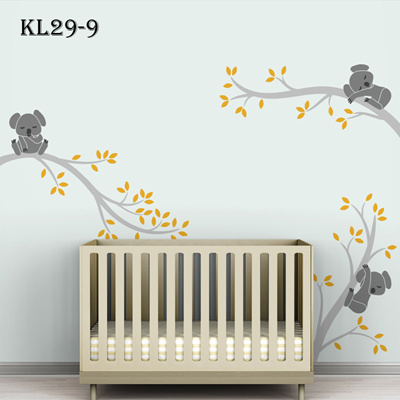 Koala Tree Branches DIY Wall Decals Vinyl Wall Sticker Nursery Baby Wall  Art Kids Decor Home