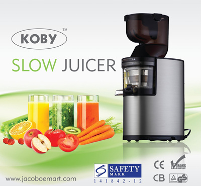 [KOBY K-008BS SLOW JUICER] Whole Fruit Mouth | Stainless Steel Body |