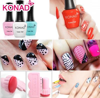 Qoo10 Konad Stamping Nail Art Stamp Set Special Nail Polish Top