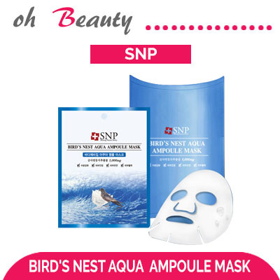 [Korea Authentic]★SNP Birds Nest Aqua Ampoule Mask(1pc)★ masks / made in  Korea / Mask sheetmask pack facial mask face maskkorea cosmetics