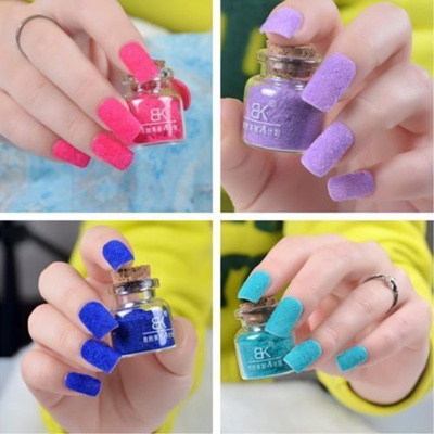 Korea Chemical Fashion Velvet Fiber Nail Polish Professional Decorate Makeup Diy Art Tool