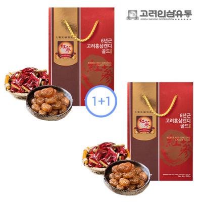 Korea Ginseng Distribution 6 Year Old Korea Red Ginseng Candy Gold 300g x  2set