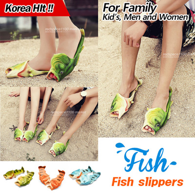 ad969badd6ca Qoo10 - ☆Korea Hit☆ fish slippers style fish flip flops fish beach Aqua  sandal...   Men s Bags   Sho.