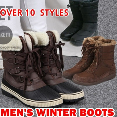 05867c644c9 Korea HIT☆ Mens winter boots shoes warm fur lining middle ankle waterproof  snow outdoor