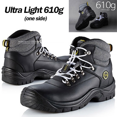 0deb01f3497 ★Korea Hit★ New Men Black Zipper Safety Work Boots Steel Toe Cap NWT Light  Weight