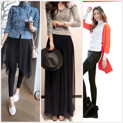 7cb1ed73b72fc Qoo10 - Korea Style Skirt Legging (2 in 1)/K POP Star Fashion Skirt ...