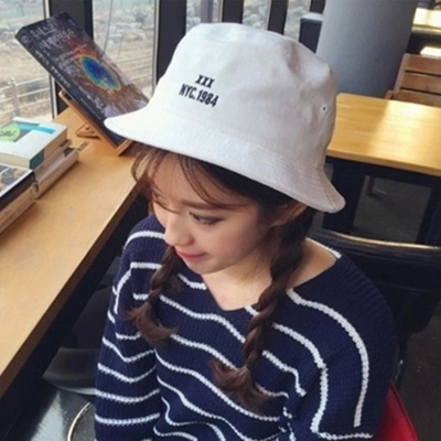 86a857ab64b Korea XXX NYC1984 embroidered bucket Hat men spring summer Korean folding  fisherman Hat sun visor