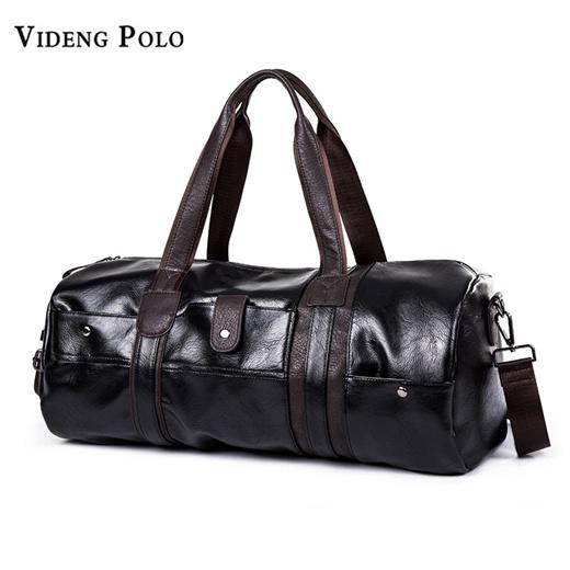 Men Travel Duffle Bags Leather Handbags