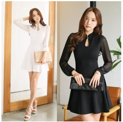 Qoo10 Korean Fashion Chiffon Flare Mini Dress Korean Style
