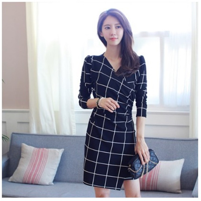Korean Fashion Maple Long Sleeve Dress Wedding Guest Special Day Womens Suits