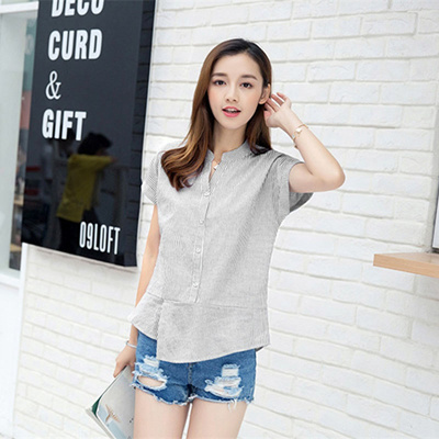 62ab0762d0ce9 Qoo10 - Korean Fashion Women Blouses Long Sleeve Striped Blouse Shirt Women  20...   Women s Clothing