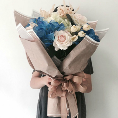 Korean Gift Wrapping Paper Flowers Bouquet Packaging Striped Florist Supplies Materials Vintage Flow