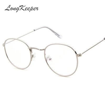 Qoo10 - Korean Glasses Frame Retro Gold Eyeglass Frame Spectacles ...