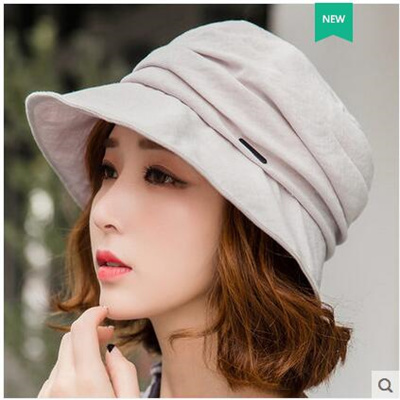 2ff19c423 Korean outdoor sun visor hat female summer hat leisure wild Japanese sun  hat folding fisherman hat