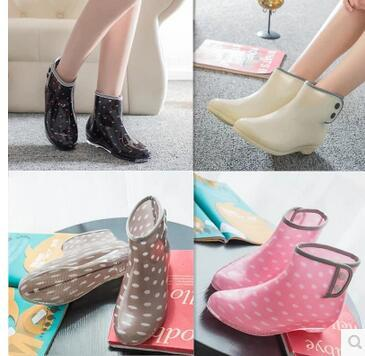 487bbd40ac85 Korean Short Tube Galoshes Buckles Female Fashion Rain Boots Women Rubber  Boots Rain Shoes Antiskid