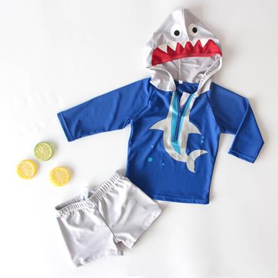 681d4364c16c3 Korean tide children s swimsuit boy s baby split shark sunscreen holiday  swimsuit Baby