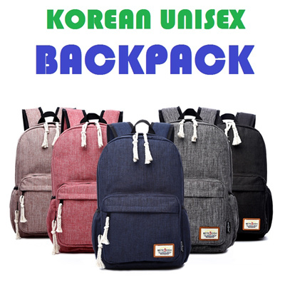Qoo10 - Korean Unisex Messenger Shoulder bag big backpack travel bag black  men...   Sportswear 95fa8e69a8675