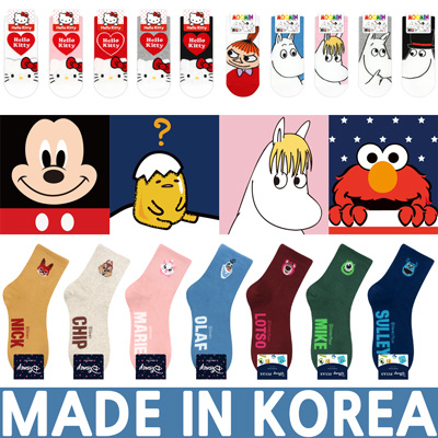 5e64f6e99 Qoo10 - Korean women socks LICENSED CHARACTER DISNEY HELLO KITTY MARVEL  MOOM... : Underwear & Sock.