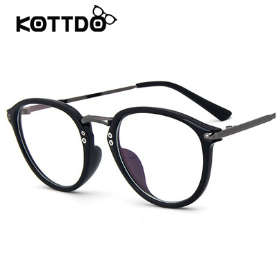 86486bbcc6 Qoo10 - KOTTDO Black Glasses Frame For Eyeglasses Male Vintage Men  Spectacle E...   Fashion Accessor.