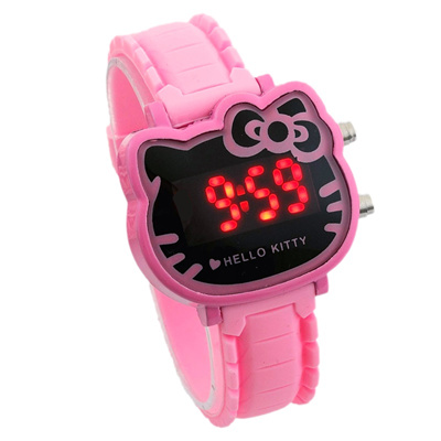 d85f91445 Qoo10 - KT cat cute cartoon Princess waterproof digital watches LED watches  gi... : Watches