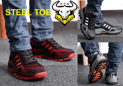 [Made In China]KTG Steel Toe Safety Shoes Sports Work boots Steel Sole Trekking Light Breathable