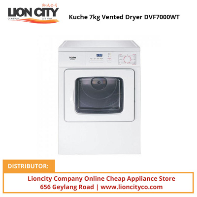 Qoo10 Kuche 7kg Vented Dryer Dvf7000wt Major Appliances