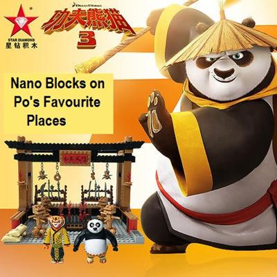 [KungFu Panda] *Star Diamond* Block Loz Full set Master Po Training  Room/Kitchen/Martial Hall/Panda