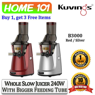 Kuvings Slow Juicer B3000 : Qoo10 - Kuvings Whole Slow Juicer 240W With Bigger Feeding Tube B3000 : Home Electronics