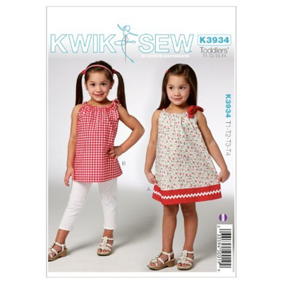 Qoo10 - KWIK-SEW PATTERNS Kwik Sew K3934 Toddlers Dress and Tunic ...