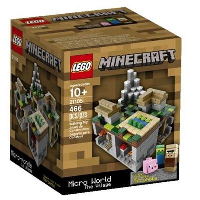 Qoo LEGO Minecraft The Village Kinder Kinder Spiel - Minecraft block spielen