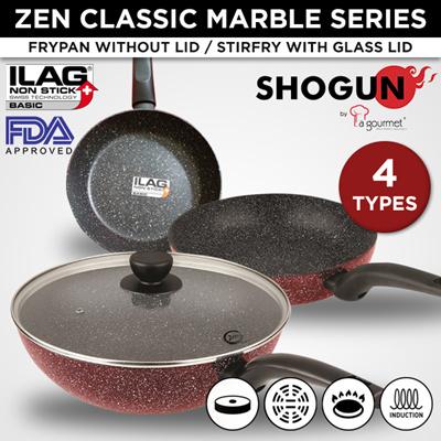 La Gourmetla Gourmet Shogun Zen Red Frypan Stirfry Wok Pan Pot Kitchen Cookware