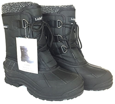 Boots Winter Snow Men Shoes S Waterproof Warm Leather Work Black Outdoor Labo