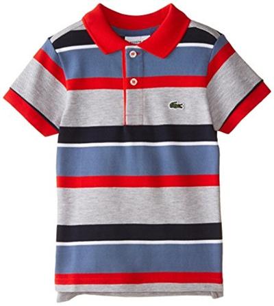 611964a7 LACOSTELacoste Little Boys Short Sleeve Multi-Stripe Polo Shirt