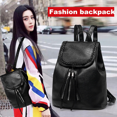 c8f670f8181a Ladies Backpack Bag Korean fashion personality all-match PU leather Backpack  Fringed Backpack