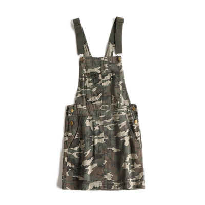 75cf834a979 Qoo10 - Ladies Camouflage Overall Skirt   Women s Clothing