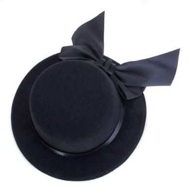 79c873018 Ladies Mini Top Hat Fascinator Burlesque Millinery w/ Bowknot - Black  (Color: Black)