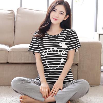 b0f8976b83 Qoo10 - Ladies summer cotton Pajamas women less summer slacks sweet ladies  thi...   Underwear   Sock.