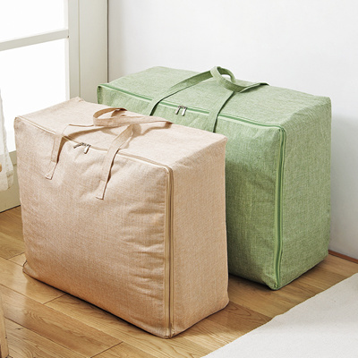Large Cotton And Linen Quilt Storage Bag Fabric Quilt Bag Moving Sorting Bag Packing Bag
