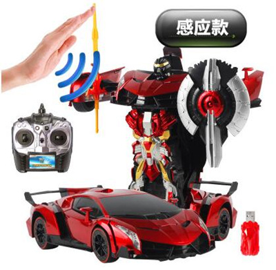 Large deformation robot remote control car Lamborghini remote control car  children toys