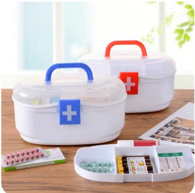 Large plastic household medicine box family first aid kit B647 multi-layer  medicine storage box chil