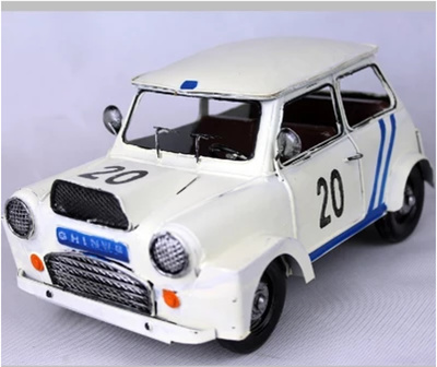 Qoo10 Large Retro Mini Car Models Flags Edition Mini Cooper Iron