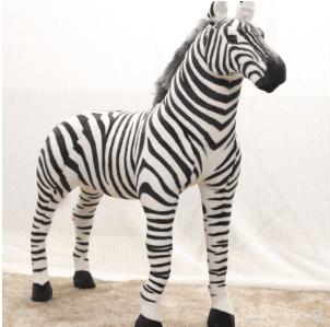 Qoo10 Large Zebra Simulation Animal Plush Toy Doll Activity Pen
