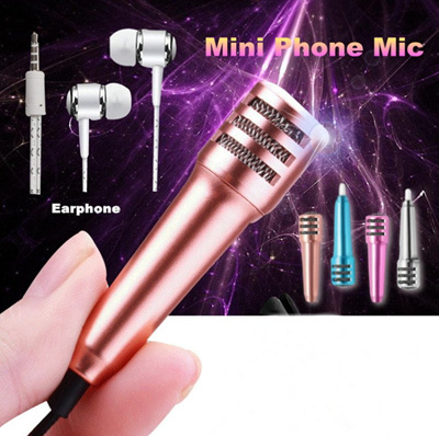 LATEST GEN 3 ★ Mini Mobile Microphone for smartphone - Sing and record your  own Karaoke Songs