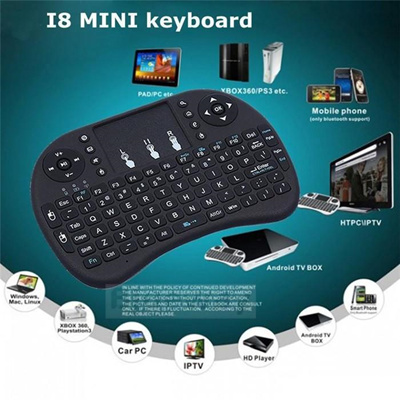 [Latest model!!!] Keyboard Air Mouse English 2 4GHz Wireless Touchpad  Android PC TV BOX USD Computer