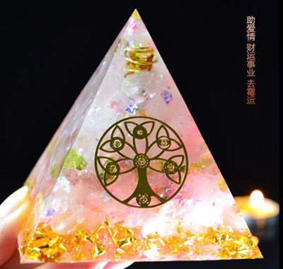 Latest Pink Orgonite Egyptian pyramids/Best for Love/Career/remove bad luck  助爱情事业财运