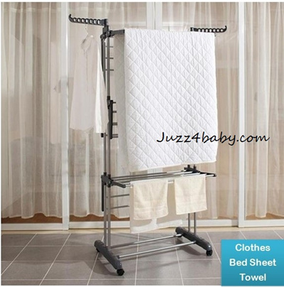 Qoo10 Laundry Drying Rack Clothes Rack Hanger Rack Wheels