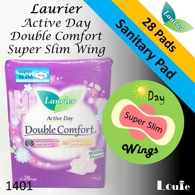 1401 [ Laurier ] Active Day Double Comfort Super Slim Wing ( 28 Pads )