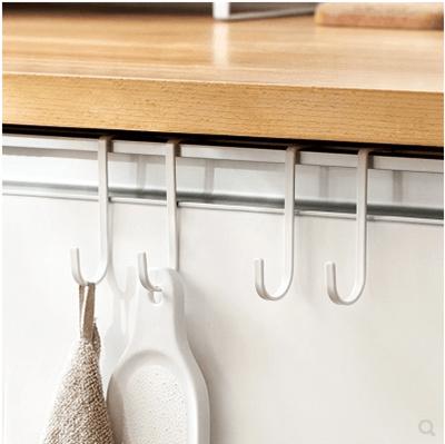 Lazy Corner Kitchen Cabinet Door Back Double Hooks Nailless Trace Door Iron Hooks 2 Pack